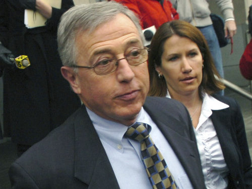 Mark Ciavarella leaves the federal courthouse in Scranton, Pa., in February.