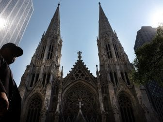 "St. Patrick's Cathedral is the seat of the Roman Catholic Archdiocese of New York, which has released a list of 120 clergy members ""credibly accused"" of child sexual abuse."