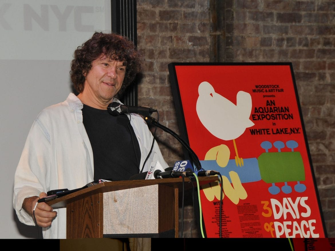 Promoter Michael Lang, celebrating Woodstock's 40th anniversary in New York in 2009.