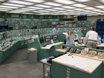 Entering the control room at Three Mile Island Unit 1 is like stepping back in time. Except for a few digital screens and new counters, much of the equipment is original to 1974, when the plant began generating electricity.