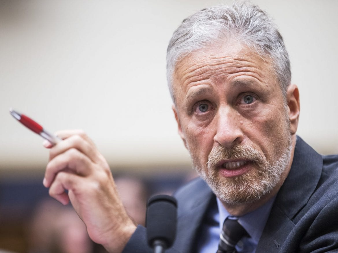 Jon Stewart testifies during a House Judiciary Committee hearing on the reauthorization of the September 11th Victim Compensation Fund.