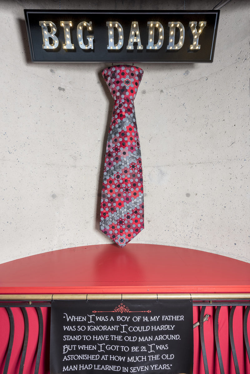 """The women also created a giant necktie called """"Big Daddy."""" Both the tie and the vignettes are on display now at Baltimore's American Visionary Art Museum."""