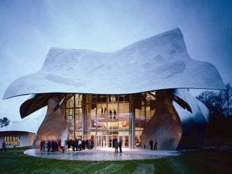 Some performances during the Bard Music Festival in the Hudson Valley take place at the Fisher Center, designed by Frank Gehry.