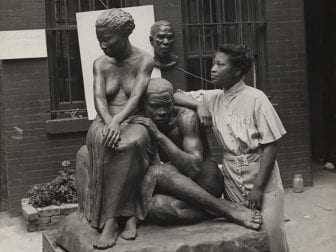 Augusta Savage was an artist, educator, activist and community leader. Her work is the focus of an exhibition at the New-York Historical Society, organized by the Cummer Museum of Art & Gardens. She's pictured above with her 1938 sculpture Realization.