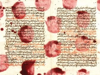 detail from the cover of The Book of Collateral Damage by Sinan Antoon