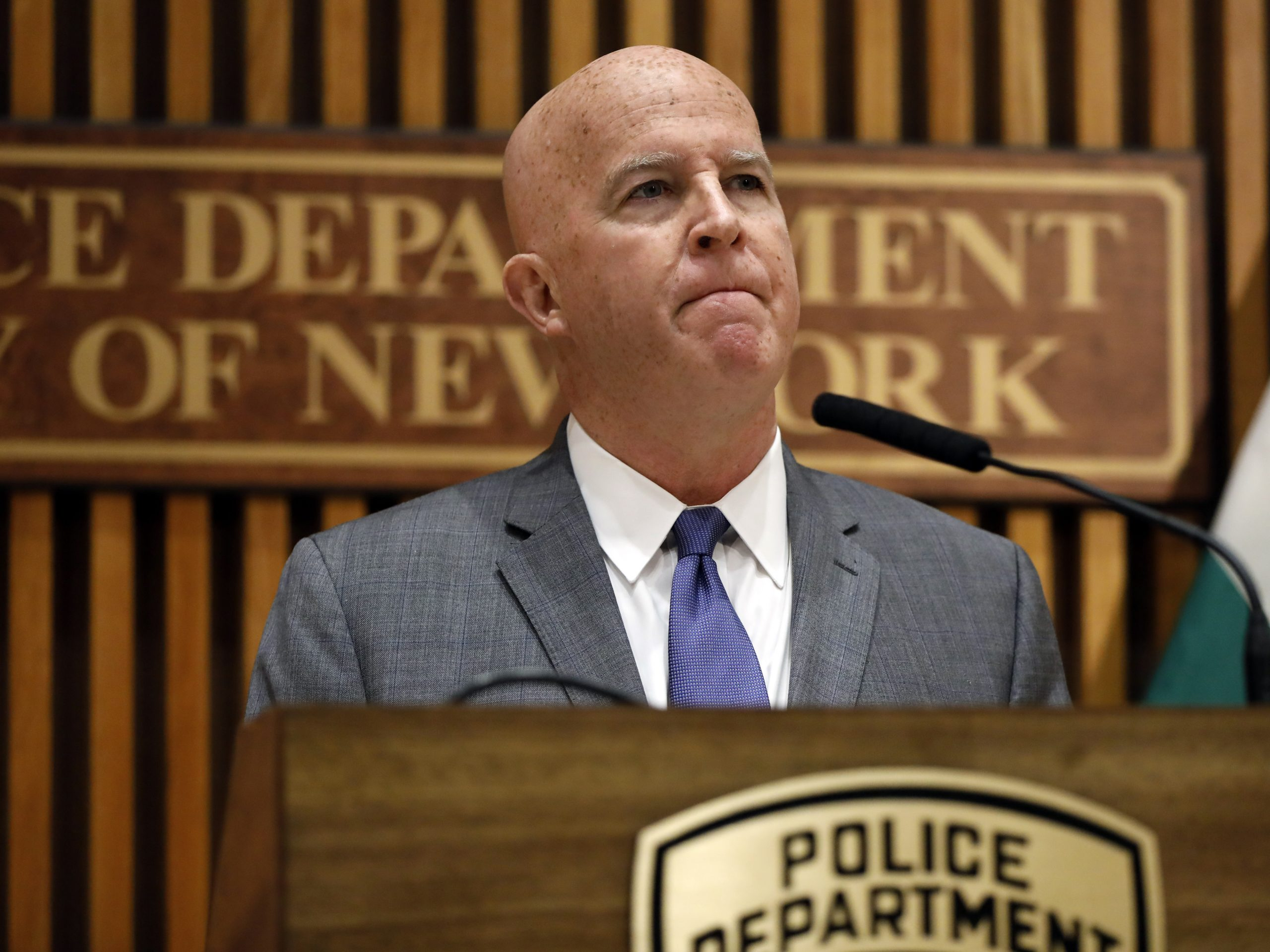 Police Commissioner James P. O'Neill announced Monday at New York City Police Department headquarters that the NYPD has fired Pantaleo for his role in Garner's death.