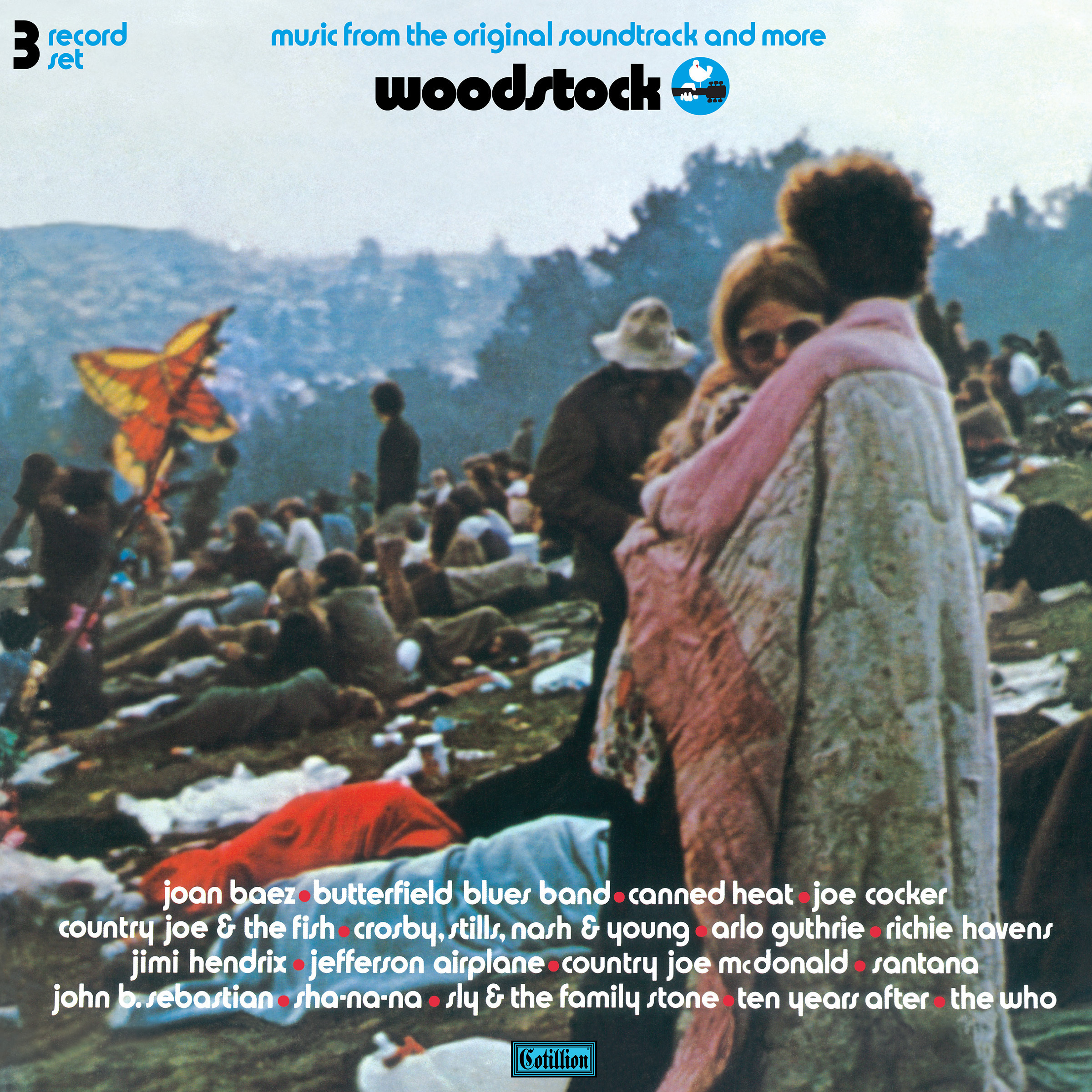 The album cover to the original soundtrack of Woodstock.