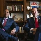 From left, Rep. Hakeem Jeffries, D-N.Y., and Rep. Doug Collins, R-Ga., are receiving the 2019 Civility Award by Allegheny College.