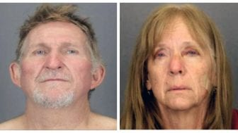 These undated booking photos show Blane Barksdale, 56, and his wife, Susan Barksdale, 59. The couple escaped custody on Aug. 26, after overpowering two security guards while being extradited from New York to Arizona.