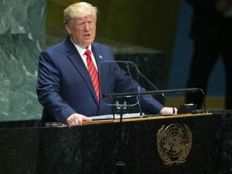 President Trump addresses the 74th session of the United Nations General Assembly at U.N. headquarters on Tuesday.