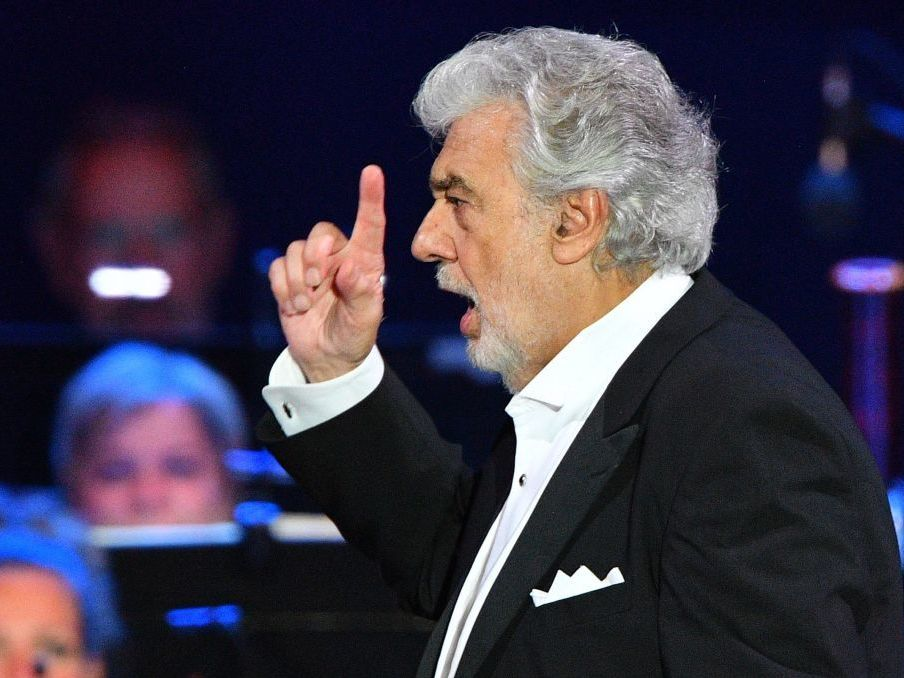 Opera singer Plácido Domingo performs in Szeged, Hungary, on Aug. 28. In a meeting on Saturday, the Metropolitan Opera's general manager discussed why he has not suspended or investigated Domingo, who has been accused of sexual misconduct by 20 women.