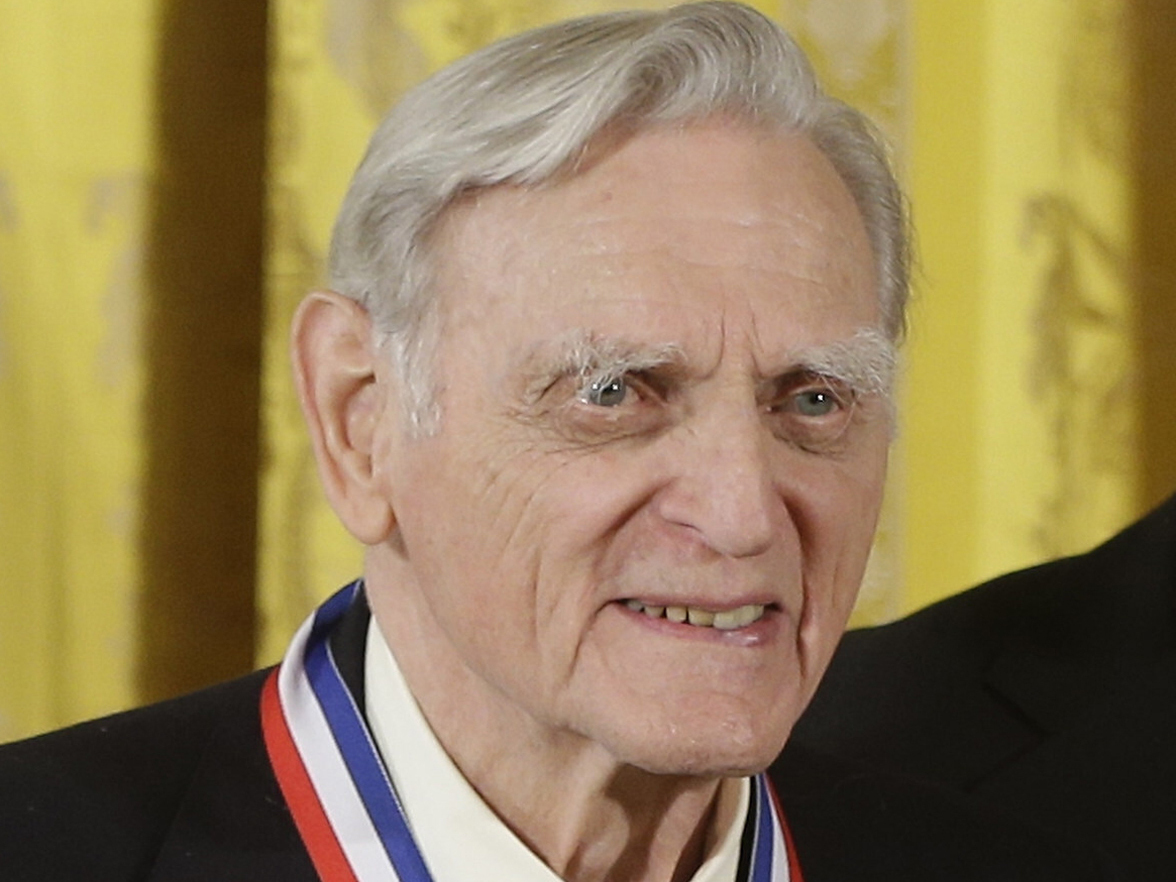 John Goodenough of the University of Texas, wears his National Medal of Science during a ceremony in the East Room of the White House in Washington, in 2013.