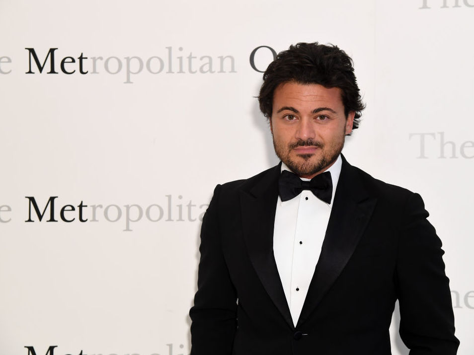 Tenor Vittorio Grigolo on the red carpet at the Metropolitan Opera's 50th anniversary gala in 2017 in New York.