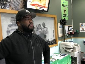 Timothy Washington, a counselor at the anti-violence nonprofit Man Up! Inc., in Brooklyn. The group tries to identify young people likely to get involved in violence and intervene before they do.