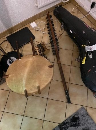 The photo that Sissoko posted on Facebook of the damage to his instrument.