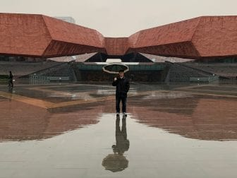 """Wethli visited the 1911 Revolution Museum in Wuhan multiple times in January, as part of his Fulbright scholarship. He loved the city and says, """"Once all this cools down, I really would like to go see how Wuhan recovers and how people are doing there."""""""