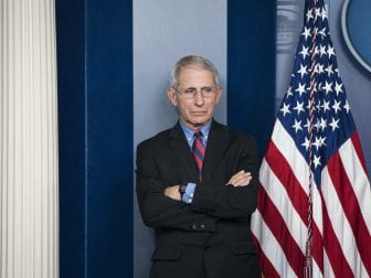 Anthony Fauci, director of the National Institute of Allergy and Infectious Diseases, has been a fixture at most of the president's daily coronavirus task force press briefings.
