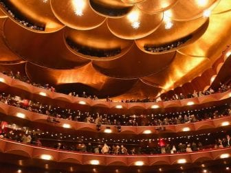 The interior of New York's Metropolitan Opera at a November 2018 performance.