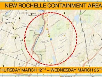 """The Young Israel synagogue of New Rochelle is at the center of a new """"containment area"""" announced by New York Gov. Andrew Cuomo Tuesday."""