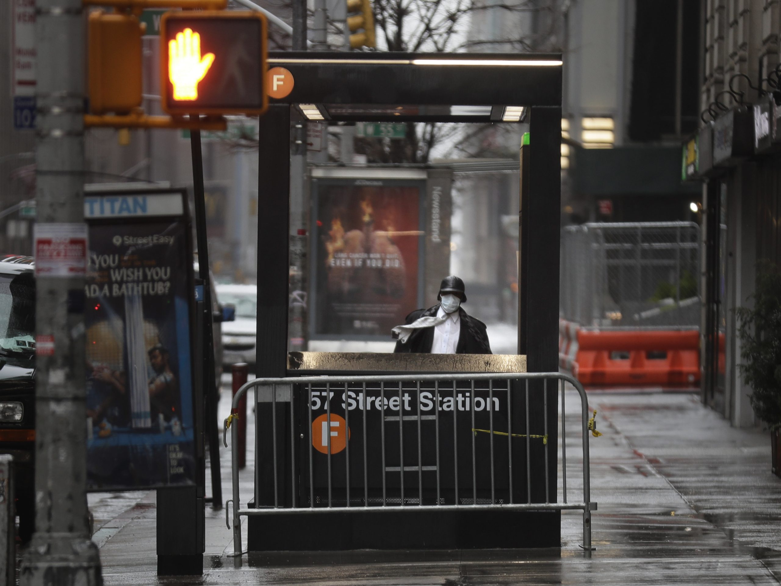 People in New York now have to wear face coverings when they are unable to stay 6 feet from others, such as when riding the subway.