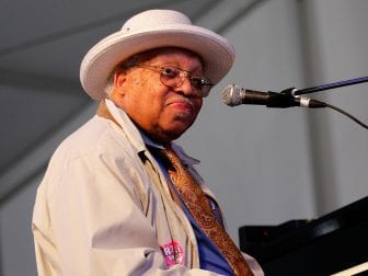 Ellis Marsalis performs during the 2013 New Orleans Jazz & Heritage Music Festival.
