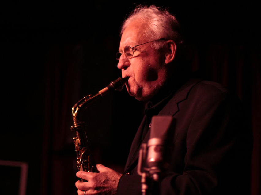 Saxophonist Lee Konitz, playing at New York's Village Vanguard in 2010.