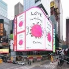 "Times Square billboard owners have donated ad space to make way for artworks about the pandemic such as the one above by illustrator Maira Kalman. Jean Cooney, director of Times Square Arts, says that in healthier times, many people come to Times Square ""because they're seeking something — they feel that if they've come to Times Square then they've seen New York City ... they've seen America."""