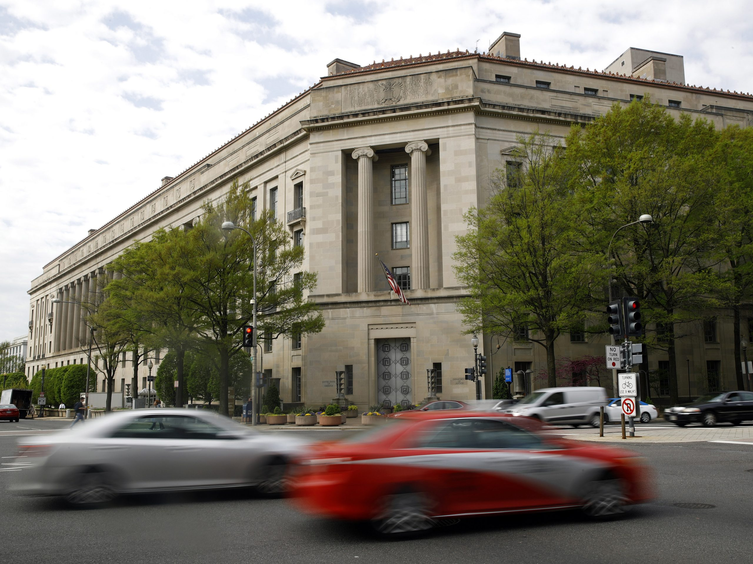 The Justice Department in Washington, D.C., is pictured in April 2019. Federal prosecutors in the Southern District of New York are moving to drop a case nearly three months after a conviction.
