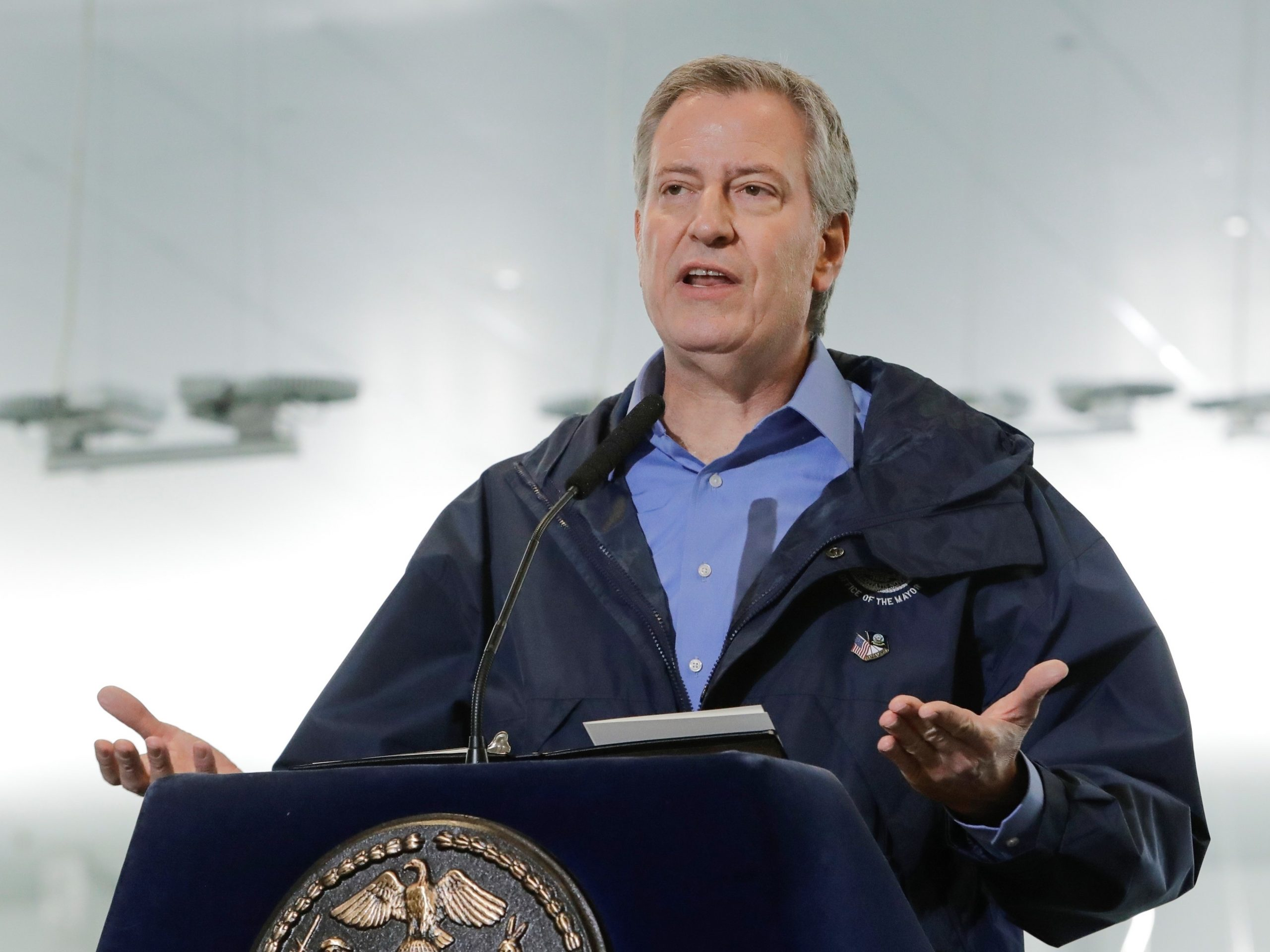 New York City Mayor Bill de Blasio says the city has already lost roughly $9 billion in revenue due to COVID-19 and predicts the toll could rise much higher.