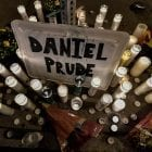 A memorial in Rochester, N.Y. where Daniel Prude, a 41-year-old Black man, died while in police custody this past March. In New York City hundreds of Black Lives Matter demonstrators took to the city's streets in protest.
