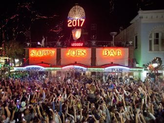 Sloppy Joe's Bar in Key West, Fla., Jan. 1, 2017. Key West Mayor Teri Johnston implemented a 10 p.m. curfew for New Year's Eve. The conch won't drop for the first time in its 28-year history.