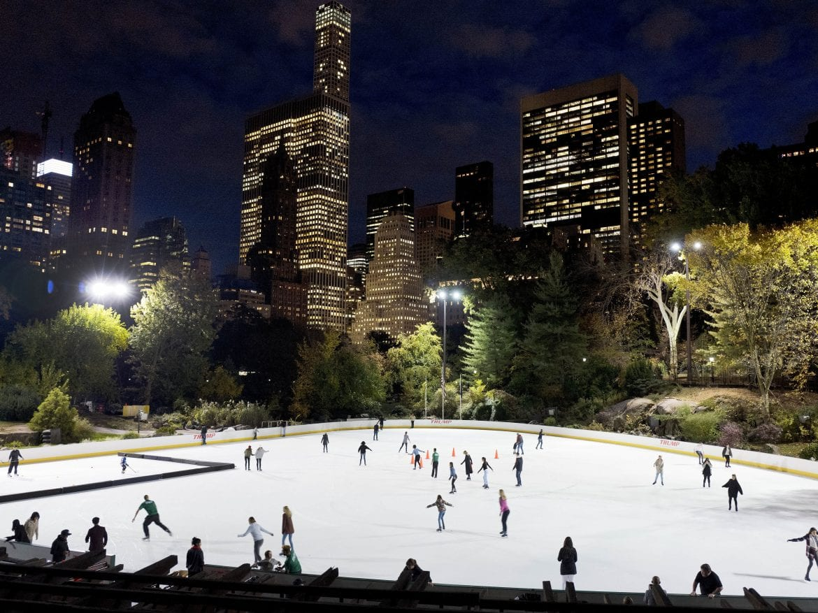 The contract for Wollman Ice Rink in New York City's Central Park is operated by the Trump Organization and among those that will be terminated by the city.