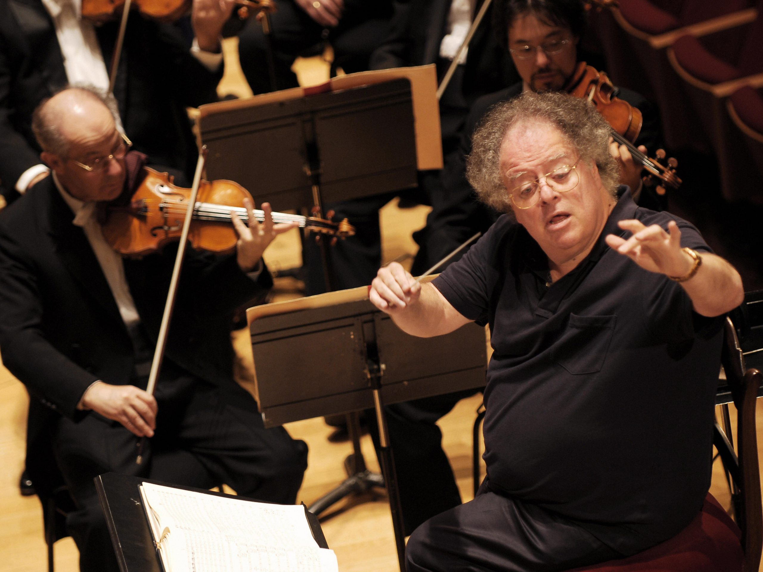 James Levine conducts the Boston Symphony Orchestra in 2007.