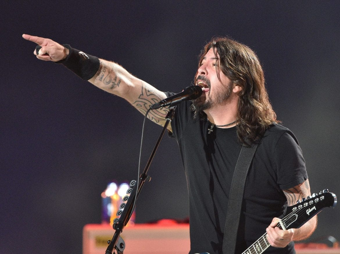 """Dave Grohl of the Foo Fighters, seen here in the """"Vax Live"""" fundraising concert held in May, performs at Madison Square Garden in June."""