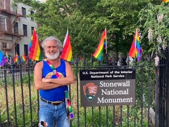 """Steven Love Menendez describes the Stonewall National Monument as """"sacred ground."""" His uncle brought him to the site of the historical riots during Menendez's first trip to the city at age 18."""