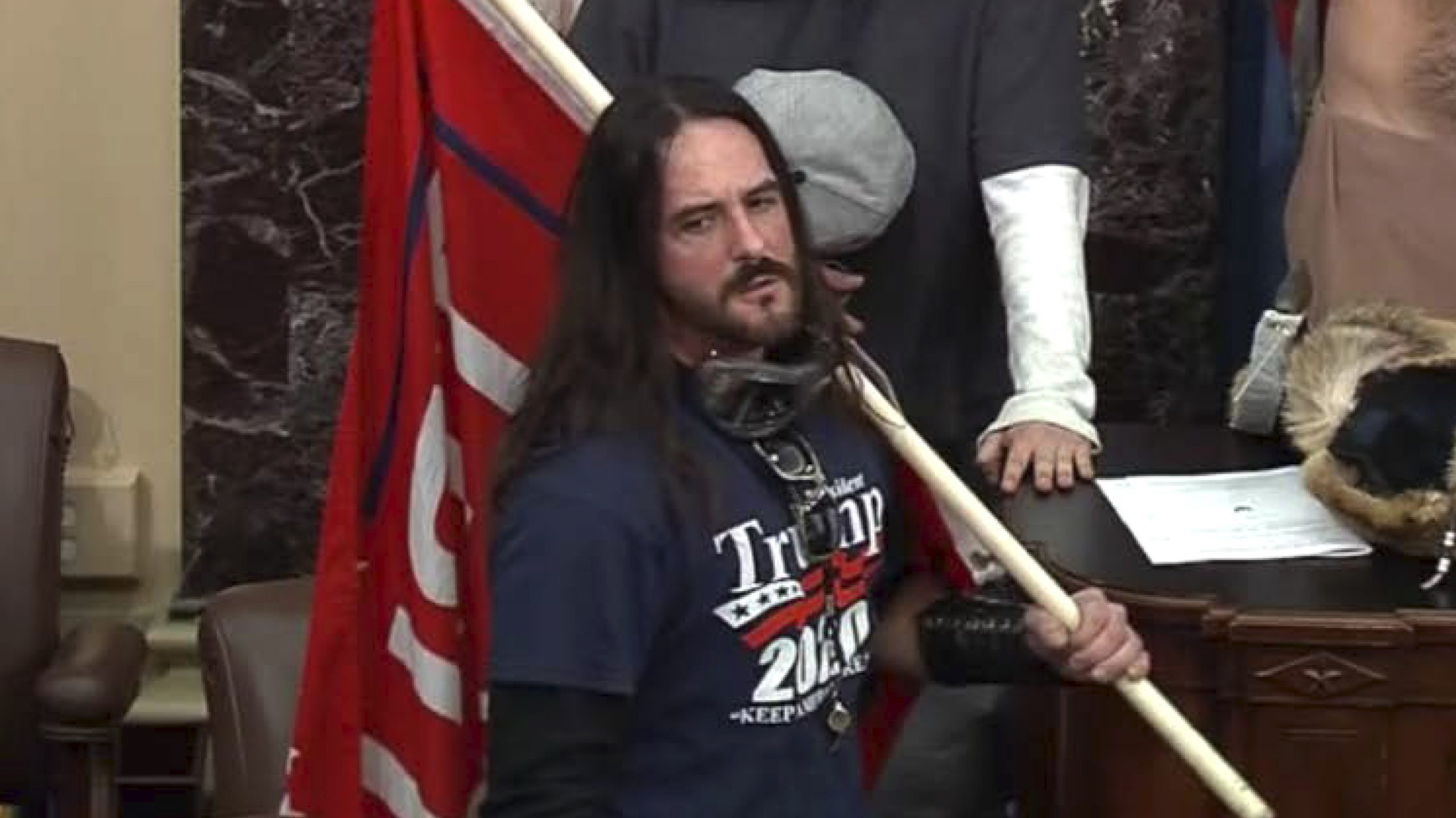 WSKGWSKGCapitol Rioter Who Walked On Senate Floor On Jan. 6 Sentenced To 8 Months In Prison